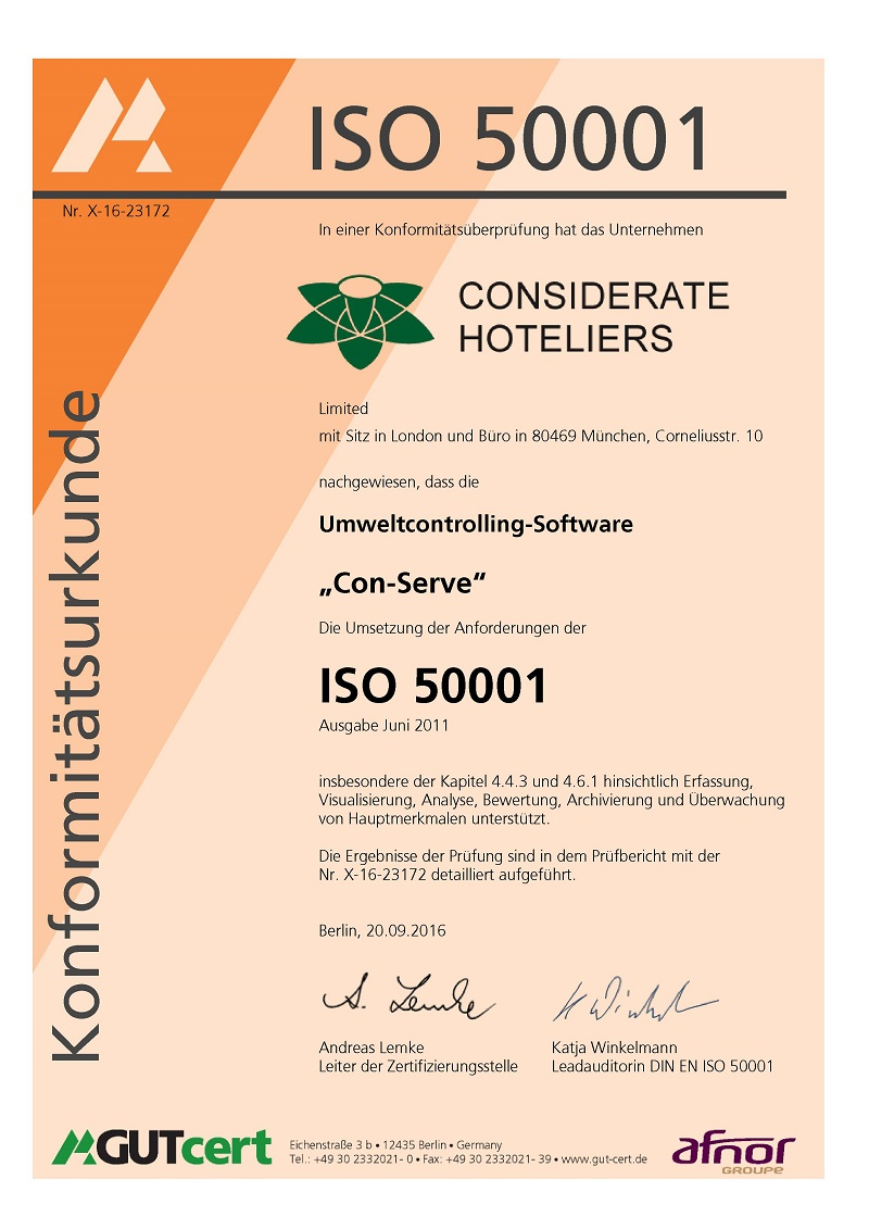 IS0 50001 Energy Management Certificate